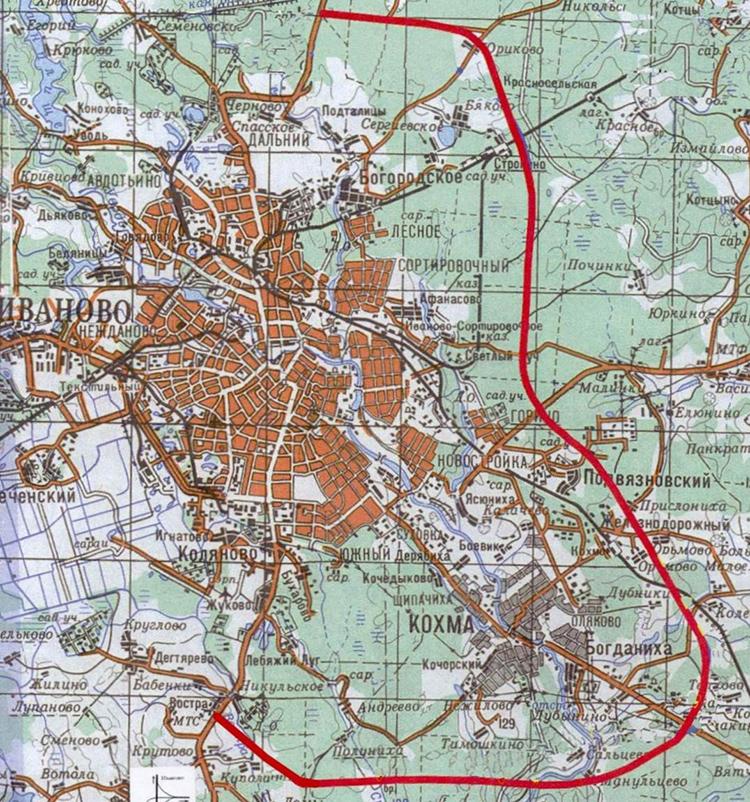 Восточный обход города Иванова